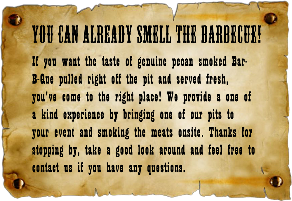 Smell the BBQ